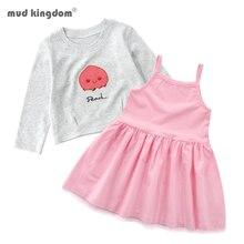 Mudkingdom/комплекты одежды для девочек весна толстовка с длинными