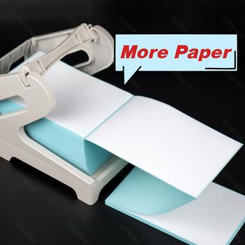 Pos 108mm 4 cal etykiety termiczne papier naklejki taśma do metkownicy rolka papieru biały 100*100*500 lub 100*150*250 lub 100*150*500 tanie i dobre opinie GZQIANJI label paper roll 4 inch CN (pochodzenie) manual 40ppm 100-240 v Do celów komercyjnych Brak Uniwersalna drukarka do biletów