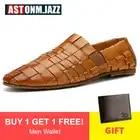 Hommes en cuir chaussures décontractées en cuir véritable chaussures hommes mocassins respirant sans lacet à la main formelle Oxford chaussures pour hommes grande taille 11 46