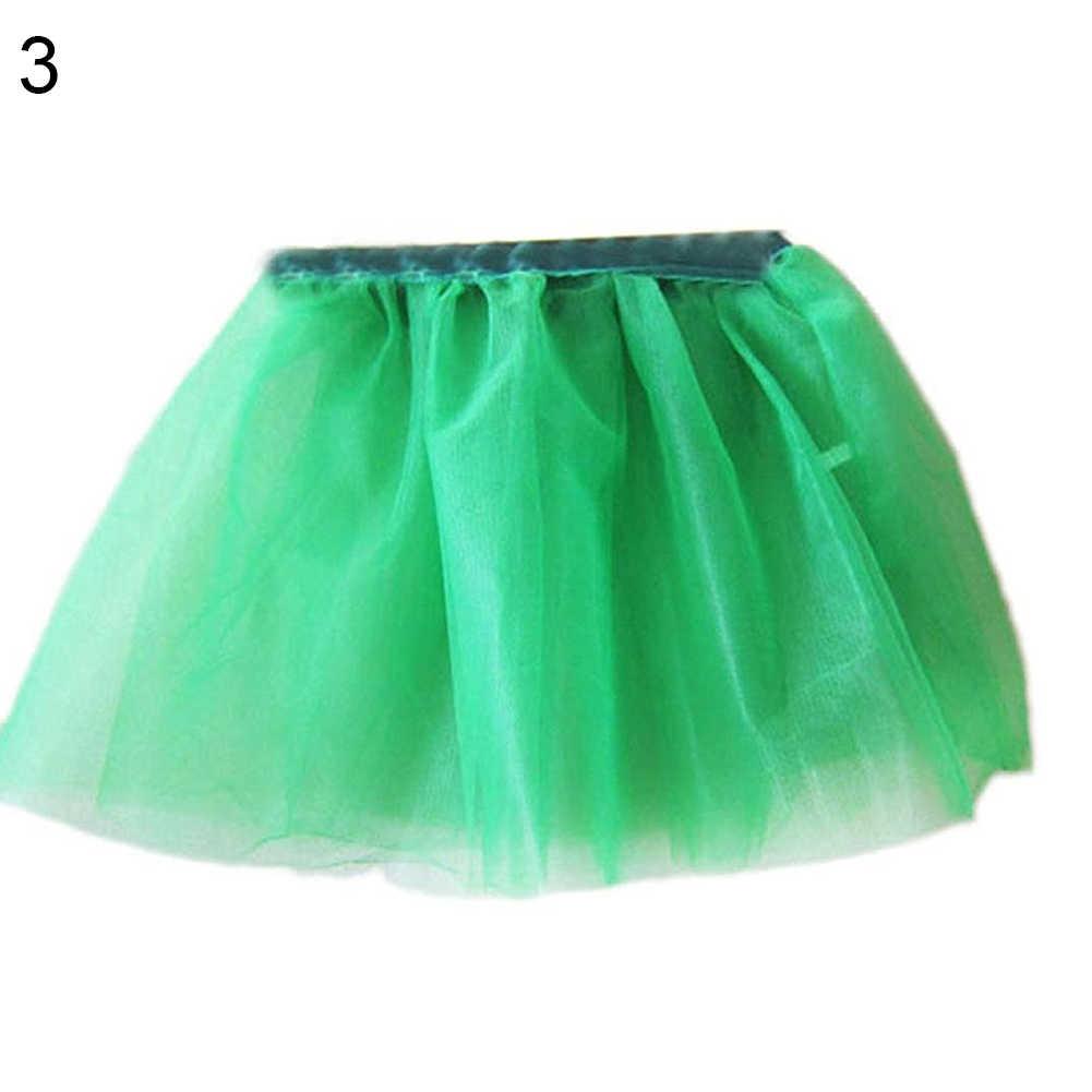แฟชั่นเด็กน่ารักสีทึบสาวTulleเจ้าหญิงน้อยแฟนซีDancewearบัลเล่ต์Dance Partyกระโปรงเครื่องแต่งกายหนึ่งขนาด