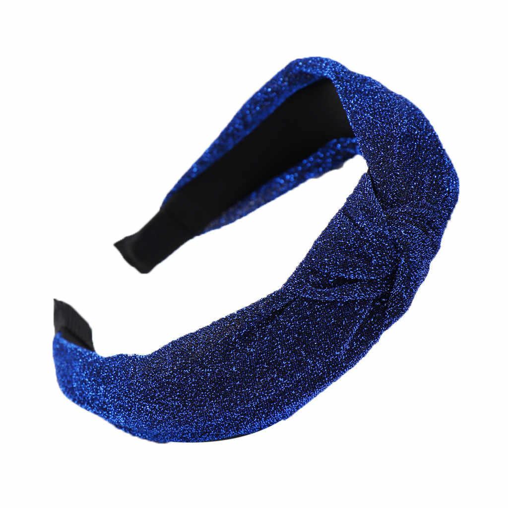 Helle Seide Bogen Knoten Frauen Stirnband Fashion Solid farbe Kopf Hoop Süße Mädchen Haar Stirnbänder Casual Weibliche Haar Zubehör