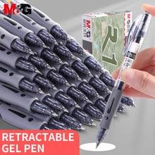 M & G Classic chowany długopis z żelowym wkładem 0.5mm Bullet Point cienka linia gumowy uchwyt o dużej pojemności wielokrotnego napełniania GP-1008 Office School Pen