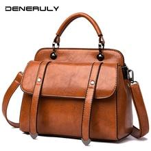 2019 Luxury Designer Shoulder Bags Vintage Leather Women Handbags New Fashion Top-handle Bag Sac Main Femme