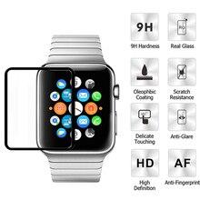 Закаленное Стекло пленка для наручных часов Apple Watch 38 мм, 42 мм, защитная пленка на Экран протектор для наручных часов iwatch серии 3/2/1 38, 42 мм Защитная крышка