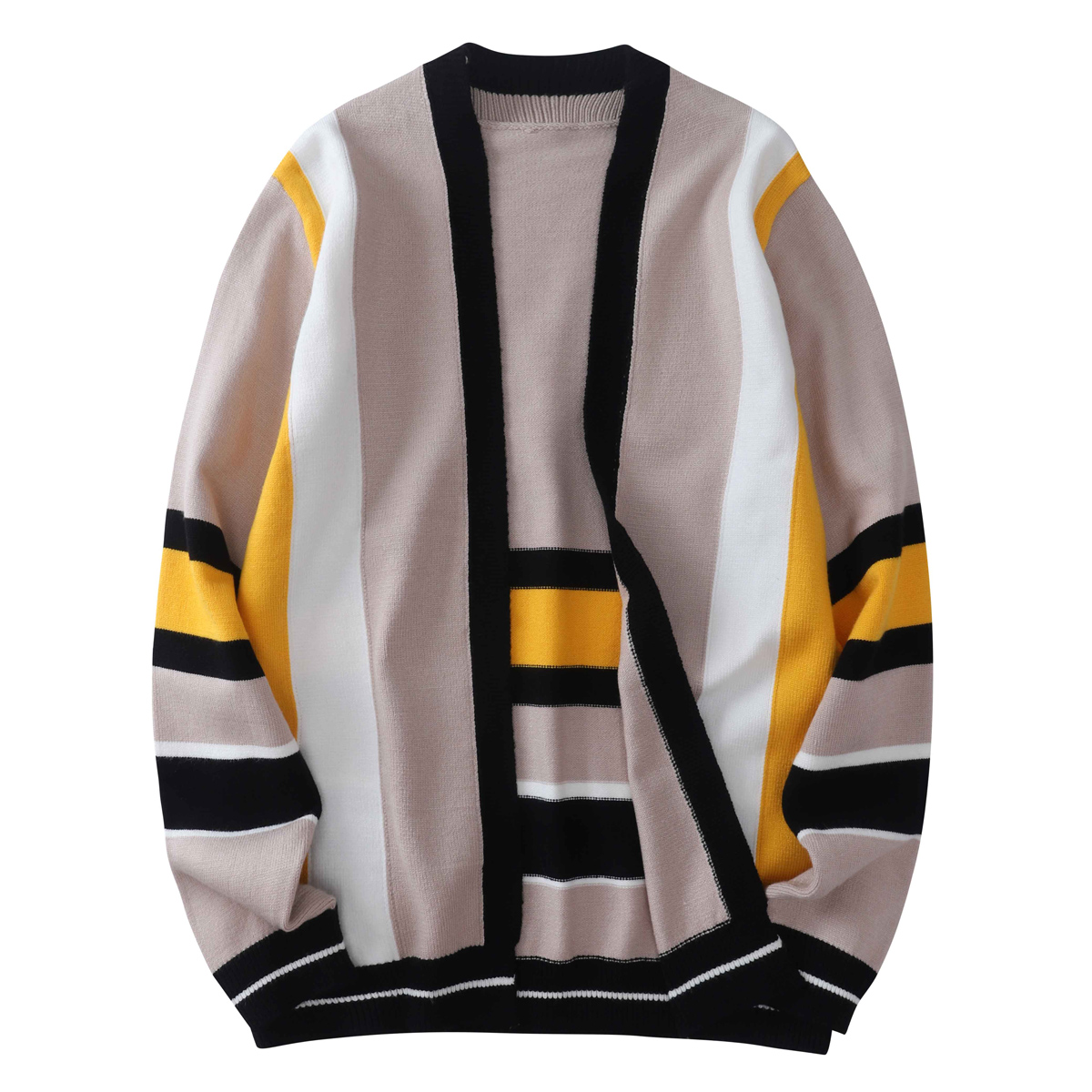 Korean Loose Sweater Men 2020 Spirnt Autumn Brand Striped Cardigan Sweaters Man Casual Knitwear Sweater Coat Men Clothes Fashion