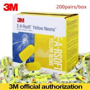 3M Bullet-Earplugs-E-A-Rsoft Noise-Reduction Neon Yellow 312-1250 Wireless Elastic LT086