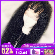 Wigs Human-Hair Lace-Frontal Curly Pre-Plucked Remy Black Women Brazilian JKO for