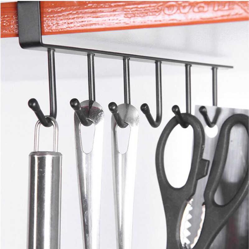 Dapur Rock Bearing Lebih Kuat Gratis Pukulan Penyimpanan Rak Gantung Cap Rak Dapur Besi Multifungsi Gantungan Baju-1 Buah