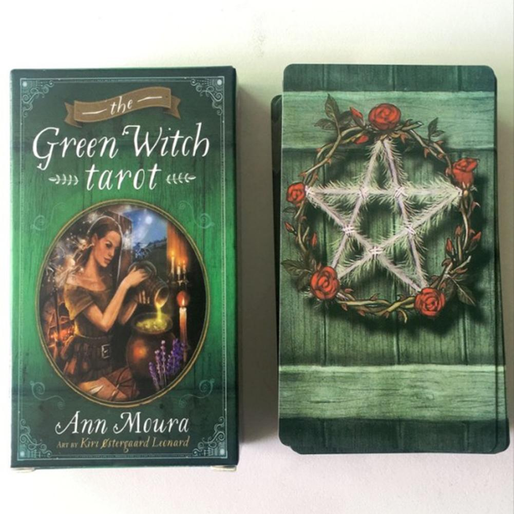 The Green Witch Tarot Cards Board Game Playing Cards For Party Entertainment 78 Sheets