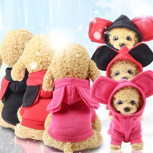 Chaqueta de perro de grandes orejas, ropa cálida para mascotas de invierno, ropa de mascotas de felpa para perros, cachorros, Chihuahua, abrigos de Navidad para perros pequeños