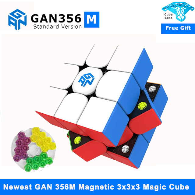 Newest GAN356 M 3x3x3 Magnetic magic Cube stickerless 3x3 Speed Cube GAN 356 Professional Puzzle Gan Cube Educational Toys 1