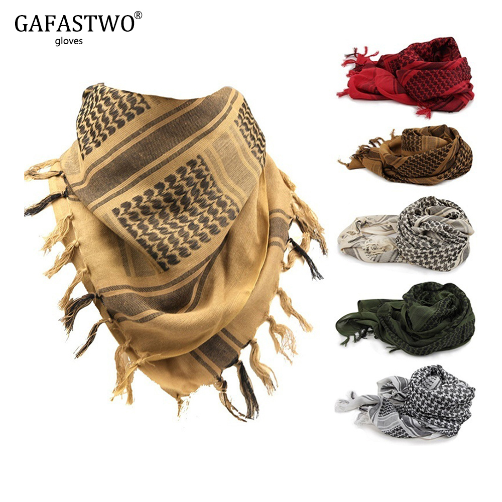 Spring And Winter Warm Fashion Light Military Plaid Scarf Men And Women Tactical Arab Scarf