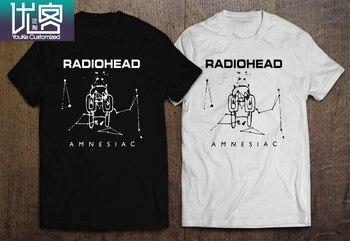 RADIOHEAD AMNESIAC OK COMPUTER Men's BLACK WHITE T-SHIRT Cool Casual pride t shirt men Unisex New Fashion tshirt Loose Size top