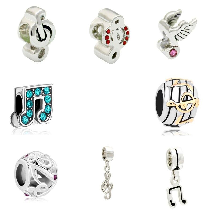 5PCS Antique Silver Dangle Beads Charms Beads Fit European Bracelet U Choose