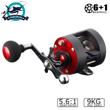 Baitcasting Fishing Reel 9KG Max Drag 6+1BB 5.6:1 Fishing Wheel CNC Precise Spool Saltwater Trolling Fishing Reels