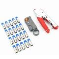 Набор инструментов для обжима коаксиального кабеля, щипцы для сдавливания и зачистки проводов для коаксиального кабеля RG58 RG59 RG6, щипцы для к...