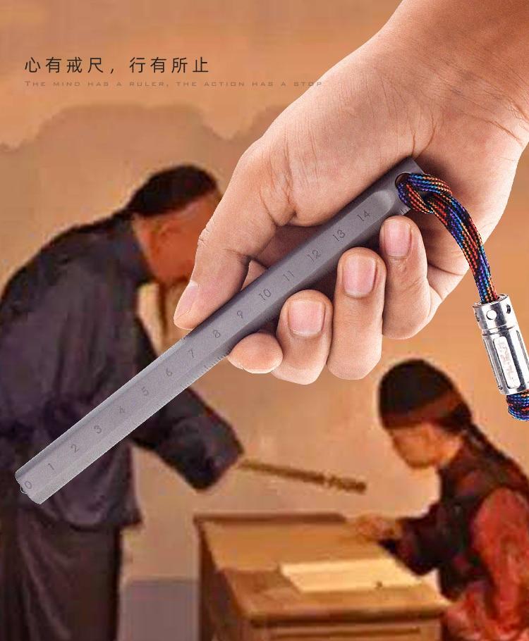 TITANER Titanium Alloy Portable Ruler EDC Measuring Tool  Defense tool