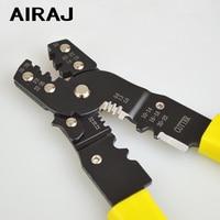 Airaj multifuncional cortador de fio eletricista portátil dedicado strippers de arame ferramentas reparo manual do agregado familiar crimp|Alicates| |  -