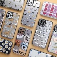 Fundas de teléfono con dibujos de gato y perro para iphone, funda trasera de TPU suave y transparente a prueba de golpes para iphone 11 Pro XR XS Max X 7 8 plus