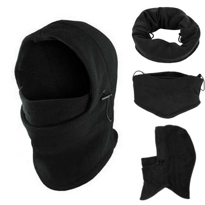 6 in1 Hals Balaclava Winter Gezicht Hoed Fleece Hood Ski Masker Warm Helm Motorfiets Gezichtsmasker mannen Outdoor Fleece warme Muts YH