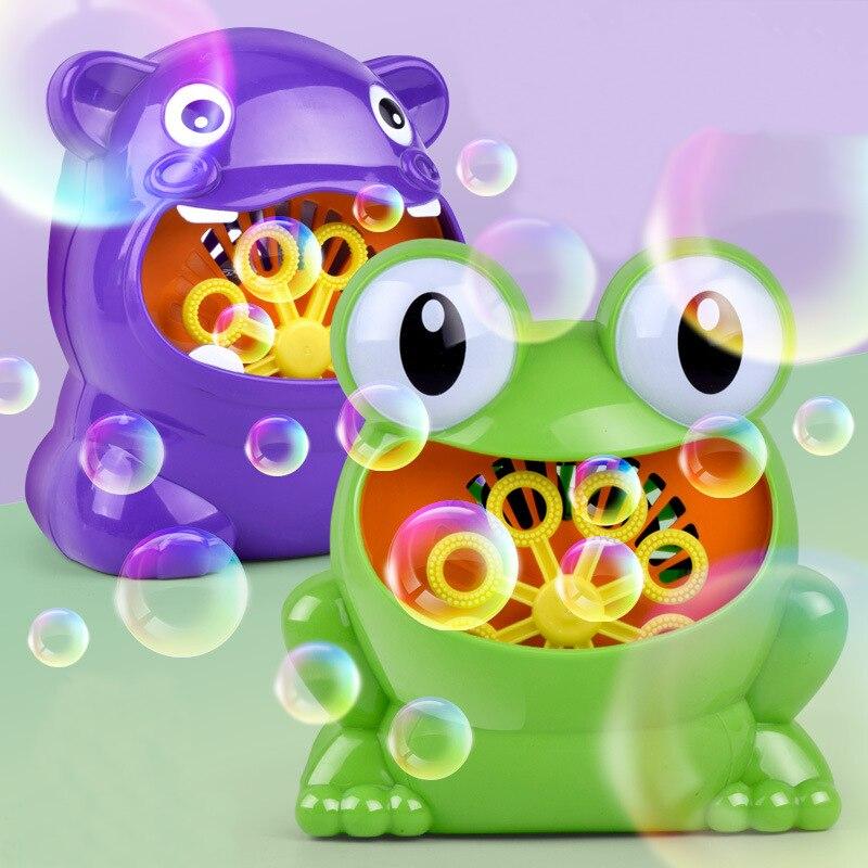 Nouveau mignon grenouille automatique bulle Machine souffleur fabricant partie d'été en plein air jouet pour enfants en gros et livraison directe