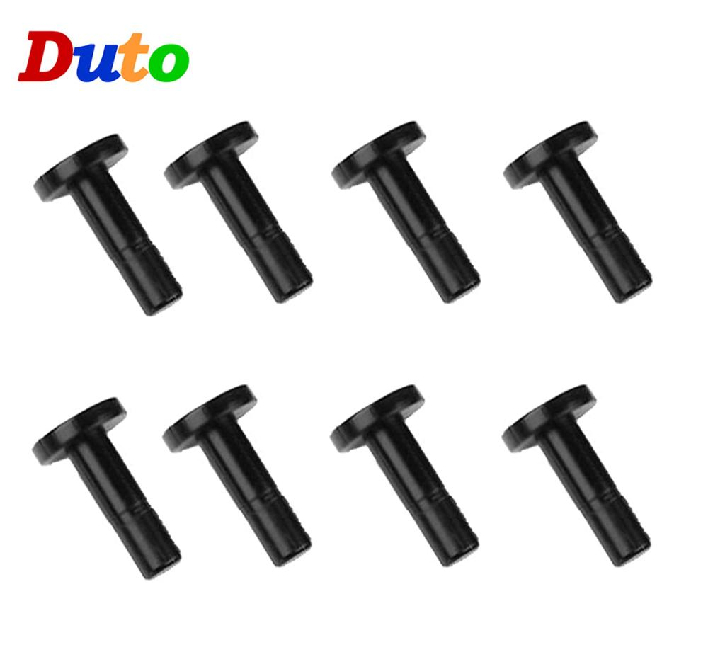 10pcs 6.35mm Straight End Plug End Cap 1/4 Inch Hole Seal Stoppers Leakproof Slip-Lock Misting Nozzle Tees Blocked Tool RO Water