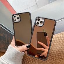 Plating makeup mirror Case for iphone 11
