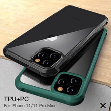 Case untuk iPhone 11 Pro Max 11 Pro 11 Mewah Akrilik Bening + Silikon Bingkai Anti-Knock Case untuk iPhone X Max XR XS X 7 8 PLUS(China)