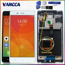 100% اختبار شاشة الكريستال السائل ل Xiao mi m4 mi 4 mi4 5.0 بوصة مجموعة المحولات الرقمية لشاشة تعمل بلمس الإطار مع أدوات مجانية و الزجاج المقسى