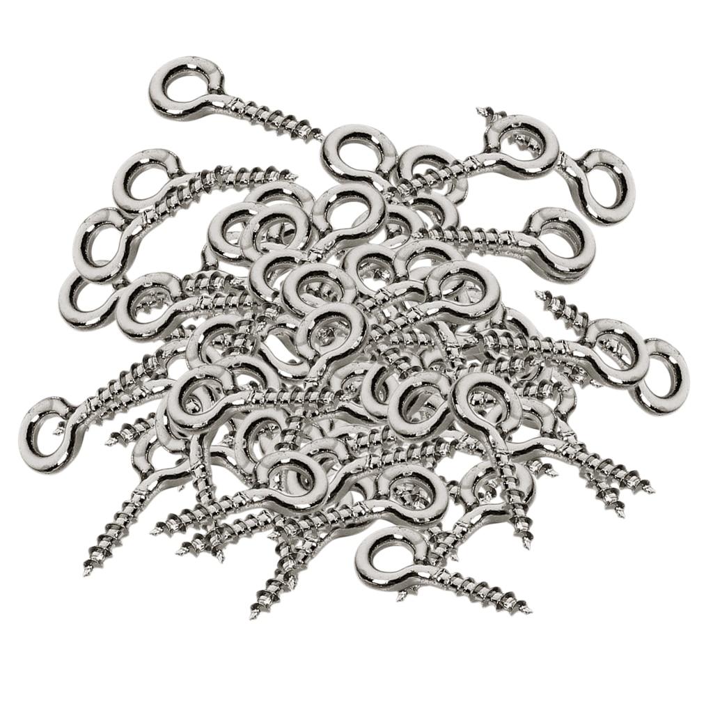 200pcs White K Screw Eye Pins Eyelets Screw For Keychain Jewelry Assortment