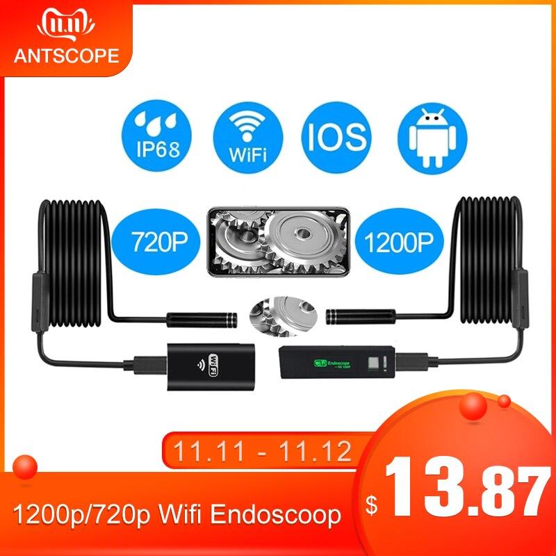 Antscope 1200p/720p Wifi Endoscope Camera For Iphone Android Borescope Waterproof Camera Endoscopic 8mm Soft /Hard Tube IOS   40