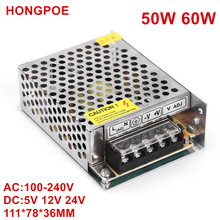 DC5V 12V 18V 24V 2A 2.5A 4A 5A 10A 50W 60W Switch LED Power Supply Transformers Adapter 5050 2835 2812 LED Strip AC DC 100-240