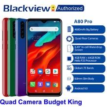 "Blackview A80 פרו Quad אחורי מצלמה אוקטה Core 4GB + 64GB נייד טלפון 6.49 ""ואטארדרוף 4680mAh 4G Celular Smartphone גלובלי גרסה"