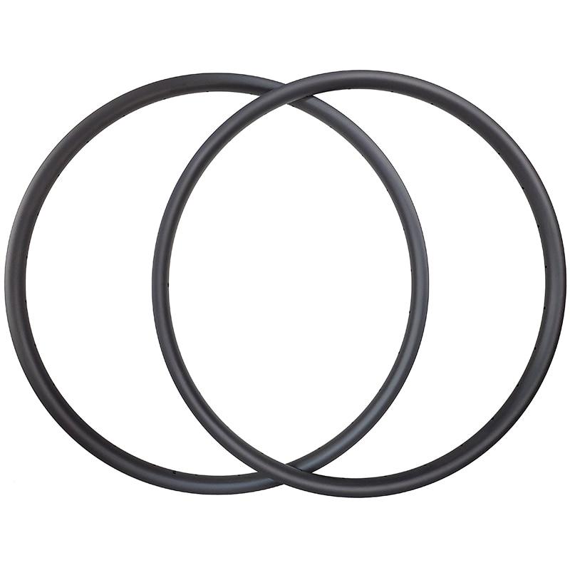 320g super light mtb tubeless bike wheel carbon rims 33mm outer  27mm internal width asymmetric