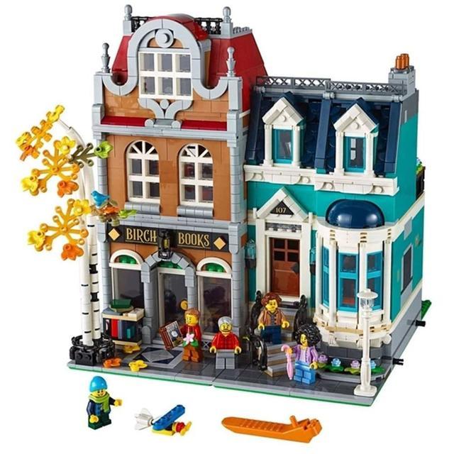 2020 limited edition Creator City Street View 2524Pcs Bookshop Model Building Kits Blocks Bricks Kids Compatible