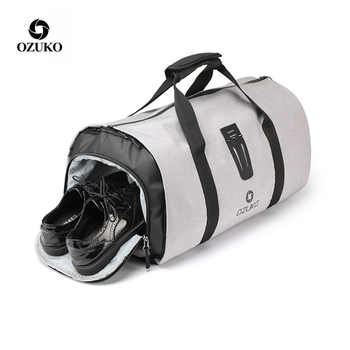 OZUKO Multifunction Men Suit Travel Bag Backpack Large Capacity Duffle Bag Suit Storage Trip Luggage Bags with Shoe Pouch - DISCOUNT ITEM  42% OFF All Category