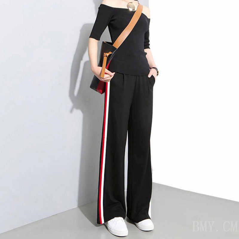 Capelli 2019 Nuovo Stile di Pantaloni Larghi Pantaloni Bianchi delle Donne di Estate Pantaloni Larghi del Piedino a vita Alta Che Dimagrisce Condizionatore D'aria pantaloni delle Donne