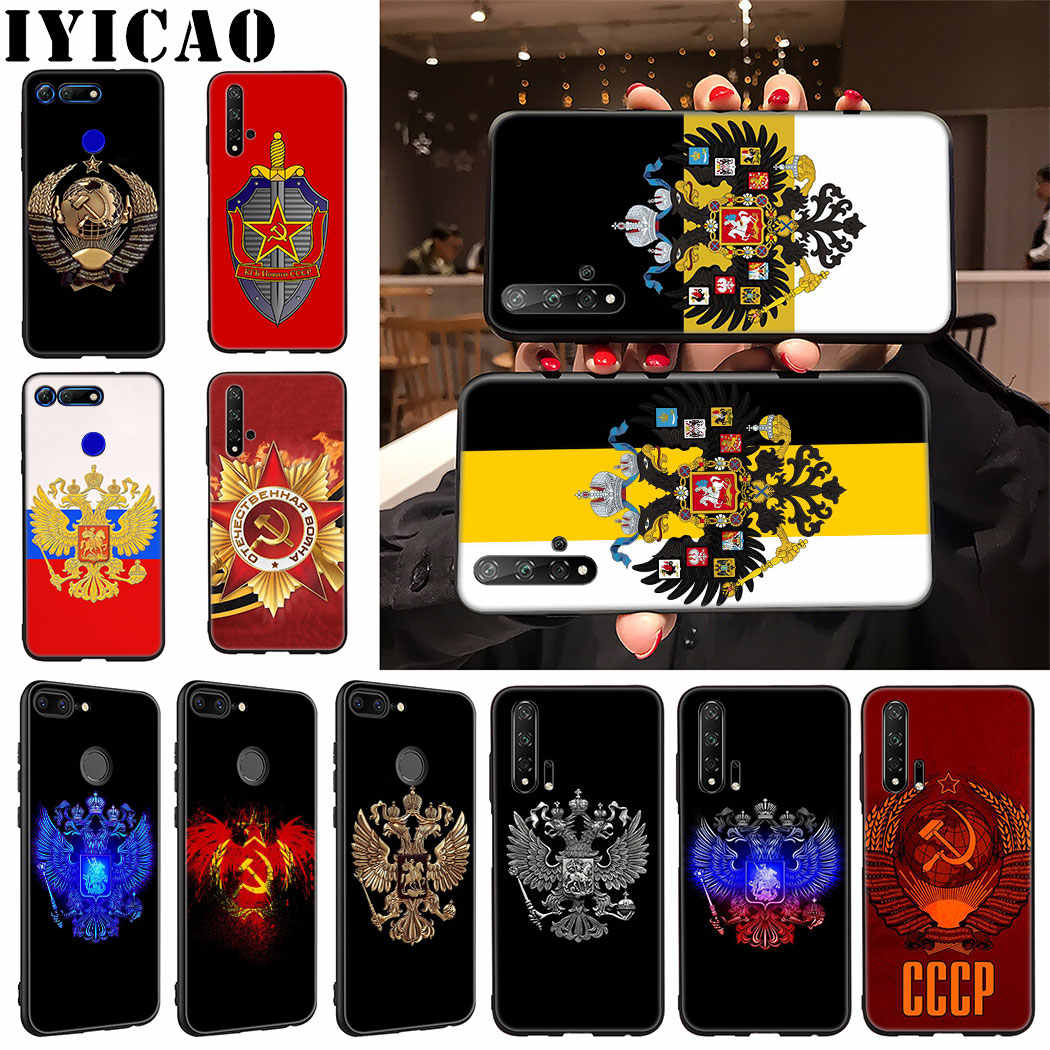 IYICAO Russia Flag coat of arms Soft Phone Case for Huawei Honor 9X 20 Pro 7A 7C 7X 8 9 10 Lite 8X 8C Note 10 View 20 Case