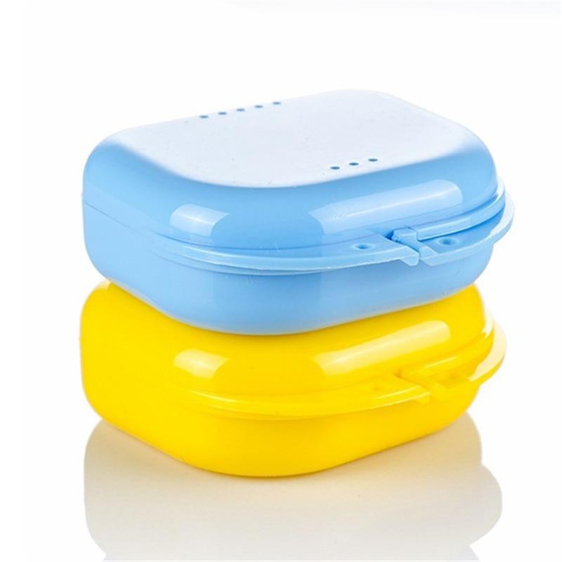 Case Container Appliance Denture Bath-Storage-Box Orthodontic Plastic False-Teeth 5-Colors