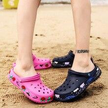 Summer slippers 2020 women's super light garden crocs fashion couple cool plus-s