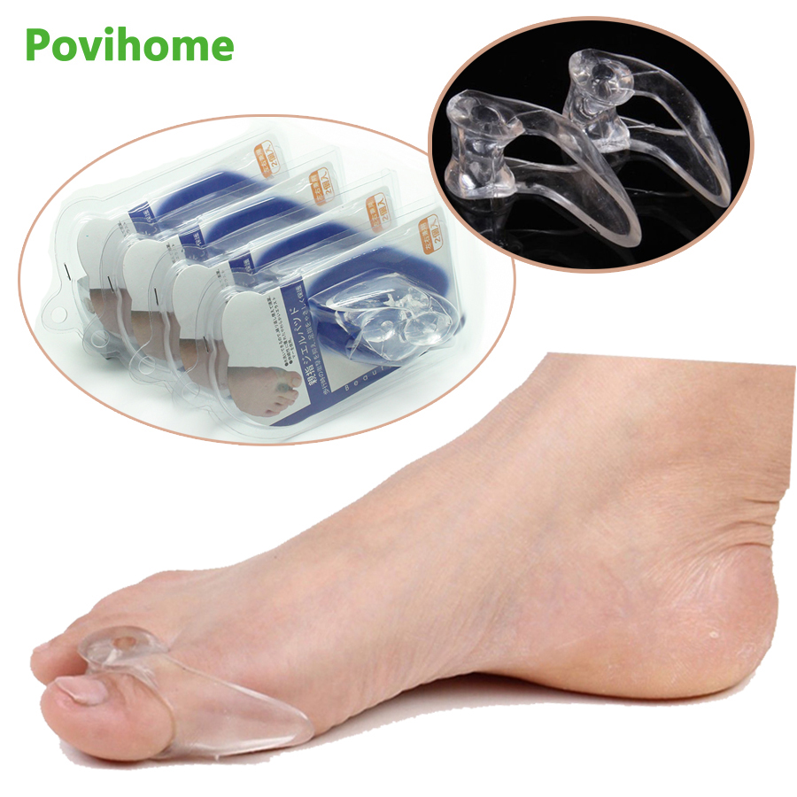 2pcs Silicone Gel Big Toe Separator Bunion Adjuster Thumb Valgus Protector Pedicure Foot Pain Relief Foot Care C401