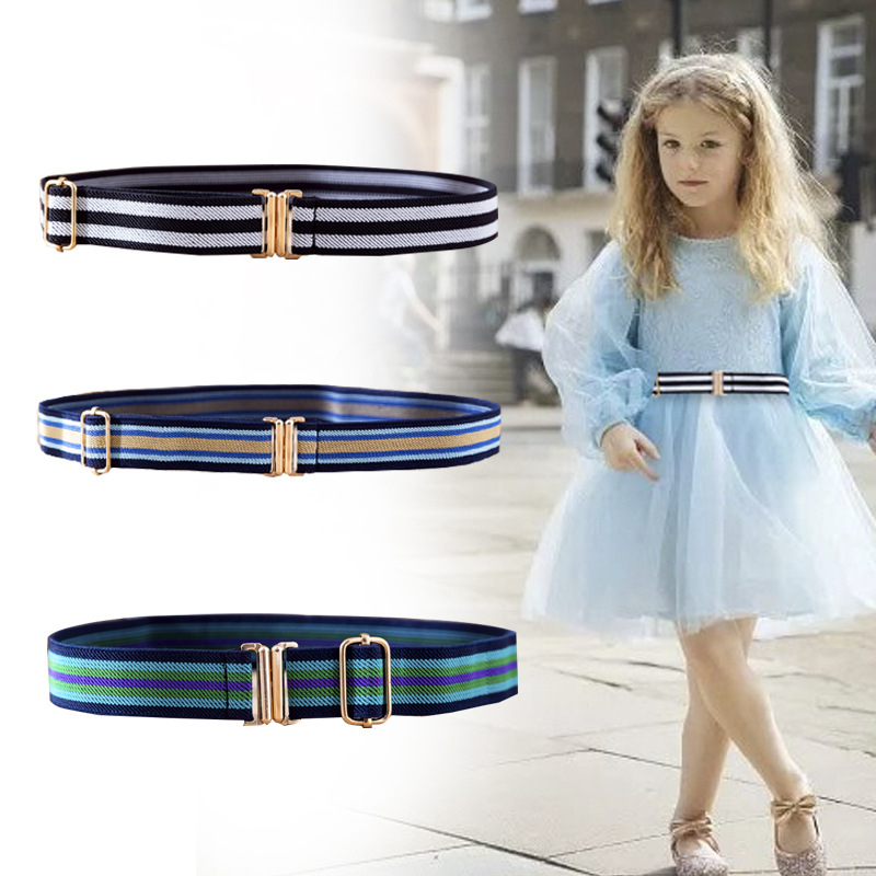 Child Buckle-Free Elastic Belt  For Boys Girls Adjustable Scout Training Children Students Belt Elastic Belt Width Of 2.5 Cm