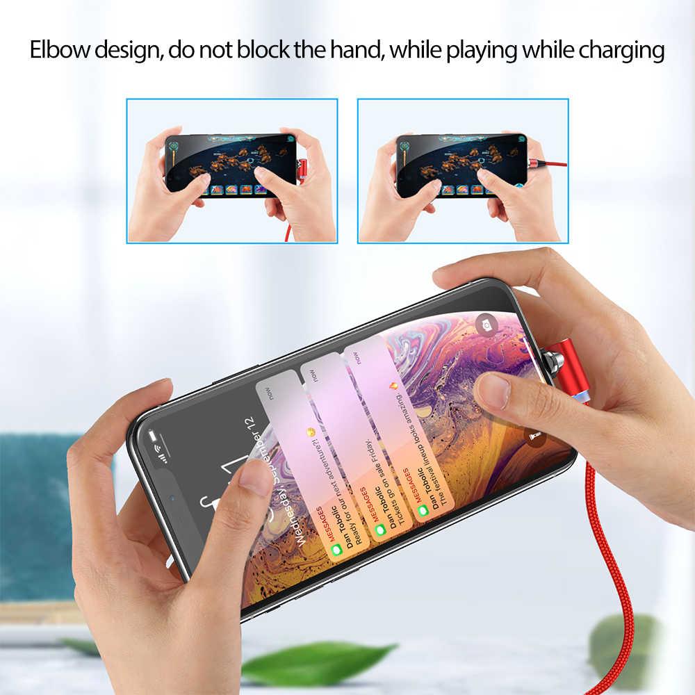 Từ Tính Cổng Micro USB Cho Iphone Dành Cho Samsung Sạc Nhanh Dữ Liệu Dây Dây Sạc Nam Châm USB Loại C 2M 1A Di Động Dây Cáp Điện Thoại