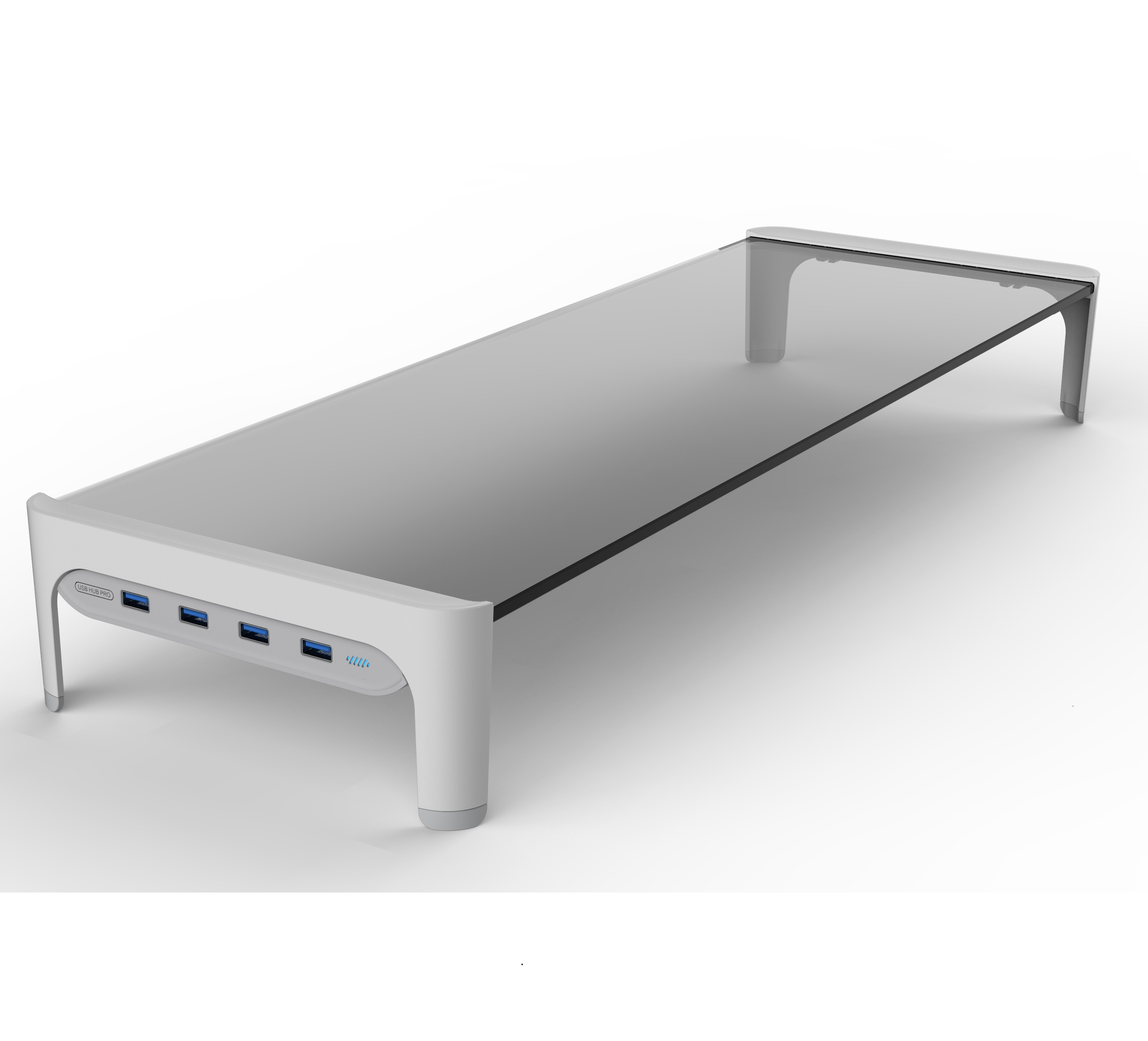 USB Monitor Stand Riser Support Transfer Data And Charging,Keyboard And Mouse Storage Desk