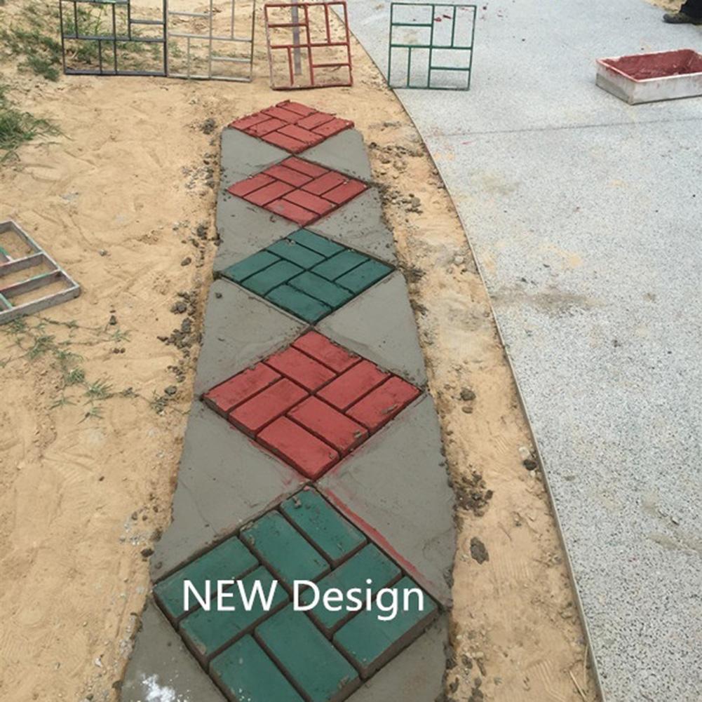 cheapest DIY Square Garden Path Paving Moulds Reusable Concrete Rectangle-shaped Cement Stone Mold Pavement Road Brick Moulds Yard Decor