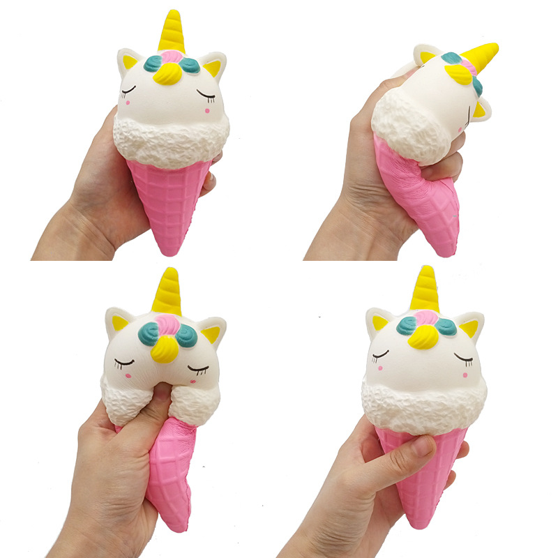 Large Ice Cream Squeeze Toy Simulation Ice Cream Slow Rising Strap Practical Jokes Toy Kawaii Squishies Antistress Relax Toy