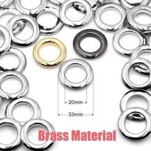 100pcs 17.5X33.5mm 4 colors 3 screws rounden grommet,Bulk price big round eyelet for DIY bags purse accessories
