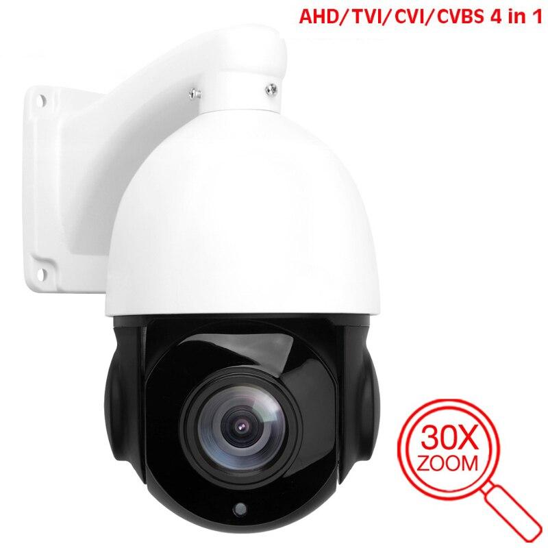 AHD analogowa kamera monitorująca o wysokiej rozdzielczości 30-krotny Zoom HD 1080P 2MP AHD kamera CCTV bezpieczeństwo zewnętrzna kamera analogowa IR PTZ
