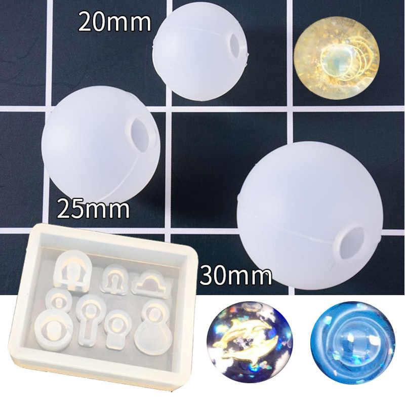 1PC 20/25/30 Mm bombka przezroczysta formy żywicy UV formy płynnego silikonu formy do tworzenia biżuterii rzemieślnicze wisiorek Toolspopular