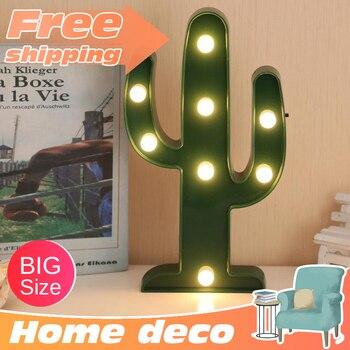 Lámpara decorativa de cactus para escritorio, luz nocturna para niños, estado de ánimo, cualquier cosa, luz nocturna para bebé, novedades de Navidad, led inalámbrico ins cocotero
